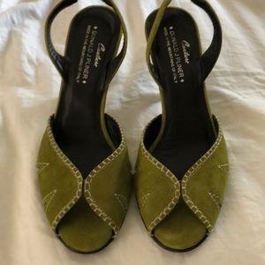 DONALD PLINER Peep toe heels